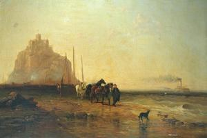 Evening off St Michael's Mount, 1855 by James Webb