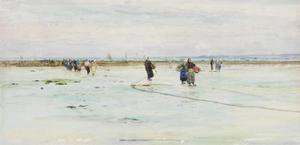 Fisherwomen on the Shore by James Webb