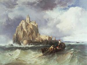 Mont St. Michel, 1868 by James Webb