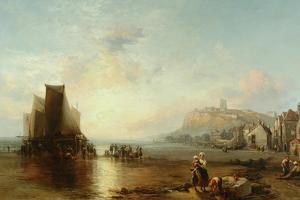 Old Folkestone, 1866 by James Webb