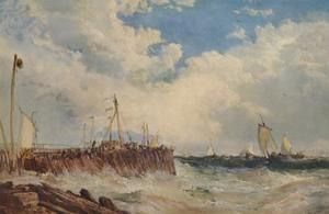 'On the Coast of Holland', 1876, (1938) by James Webb
