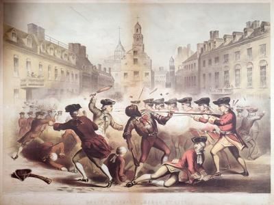 Death of Crispus Attucks at the Boston Massacre, 5th March, 1770, 1856