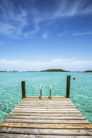 Dock , Staniel Cay, Exuma, Bahamas
