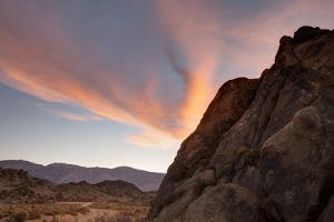 Sunrise Highlights the Clouds Above the Alabama Hills Region by James White