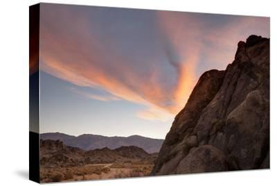 Sunrise Highlights the Clouds Above the Alabama Hills Region