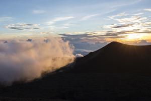Sunset Viewed from the Top of Mauna Kea Volcano , Foreground by James White