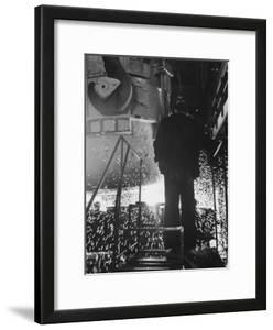 Worker in a Steel Mill in Moscow by James Whitmore