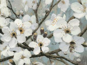 Cherry Blossoms I Blue Crop by James Wiens