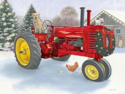 Christmas in the Heartland III Red Tractor by James Wiens