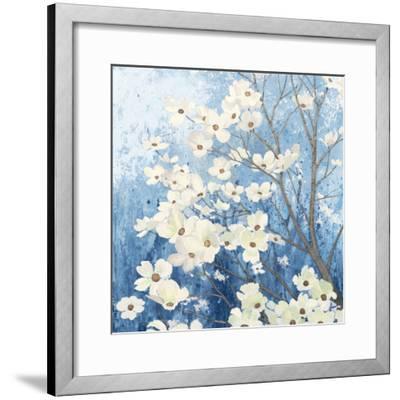 Dogwood Blossoms I Indigo