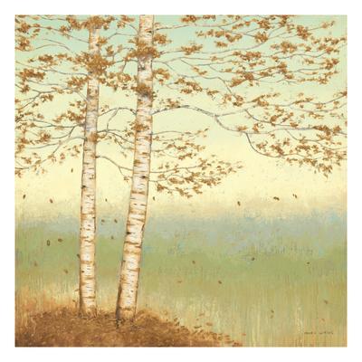 Golden Birch I with Blue Sky