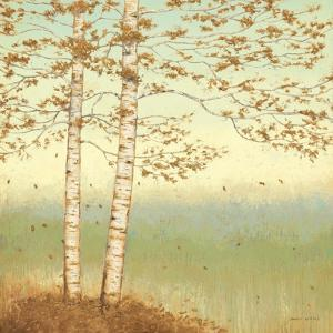 Golden Birch I with Blue Sky by James Wiens