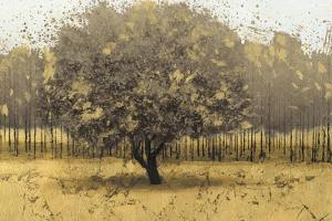 Golden Trees I Taupe by James Wiens
