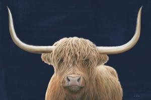 Highland Cow Navy by James Wiens