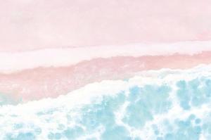 Sky Seaview I No Umbrellas Pink by James Wiens