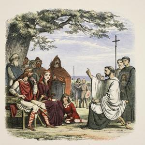 Augustine Preaching before King Ethelbert by James William Edmund Doyle