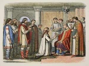 Baptism of King Guthorm, Ad 878, from a Chronicle of England BC 55 to Ad 1485, Pub. London, 1863 by James William Edmund Doyle