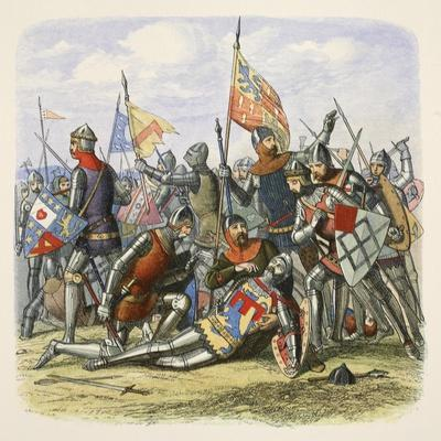Death of Hotspur, Sir Henry Percy, from a Chronicle of England BC 55 to Ad 1485, Pub. London, 1863