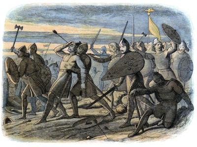 Death of King Harold, Battle of Hastings, 1066