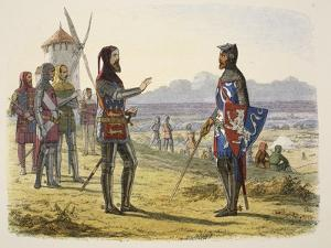 Edward Refuses Succour to His Son at Crécy by James William Edmund Doyle