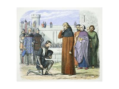 Henry Bolingbroke demanding the throne of Richard II of England, Flint, Wales, 1399 (1864)