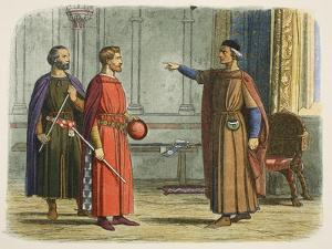King Edward I Threatens the Lord Marshal by James William Edmund Doyle