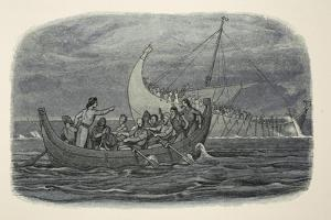 Wreck of the White Ship, from a Chronicle of England BC 55 to Ad 1485, Pub. London, 1863 by James William Edmund Doyle