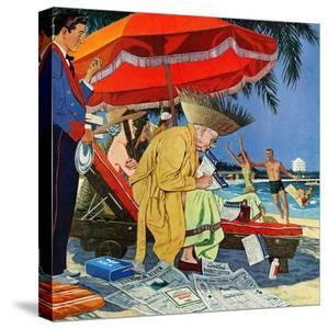 """""""Business at the Beach,"""" January 23, 1960 by James Williamson"""