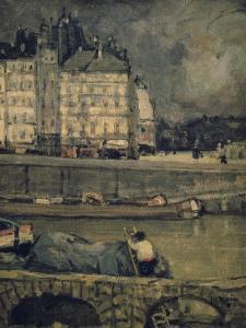 The Edges of the Seine, Paris, (1880-1924) by James Wilson Morrice