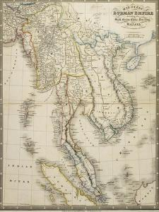 Map of the Burman Empire Including also Siam, Cochin China, Tonking and Malaya by James Wyld