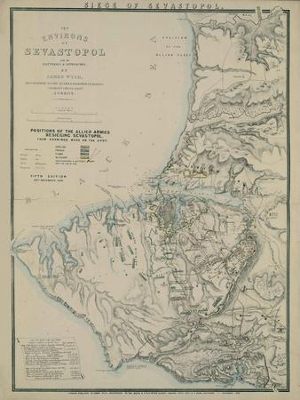 Map of the Environs of Sevastopol, 1854