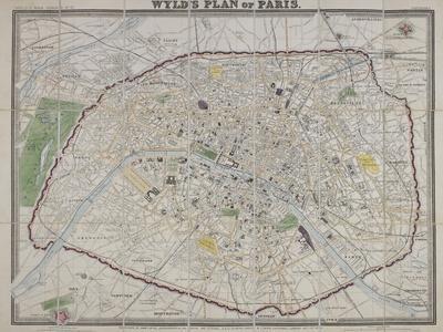 Wyld's Plan of Paris, 1870