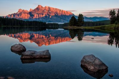 Mountain Reflection in Lake Minnewanka by JamesWheeler