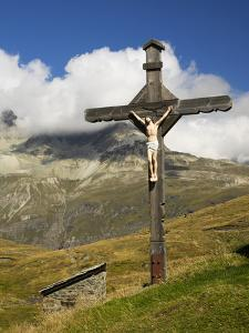 Switzerland, Zermatt, Schwarzsee, Cross Along Hiking Trail by Jamie And Judy Wild