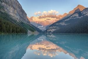 Canada, Banff NP, Lake Louise, Mount Victoria and Victoria Glaciers by Jamie & Judy Wild