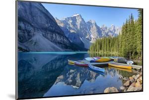 Canada, Banff NP, Valley of the Ten Peaks, Moraine Lake, Canoe Dock by Jamie & Judy Wild