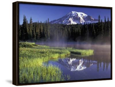 Early Morning on Reflection Lake, Mt. Rainier National Park, Washington, USA by Jamie & Judy Wild