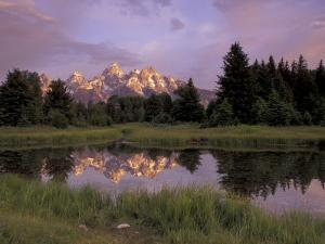 Grand Teton Range and Reflection from Schwabacher Landing, Grand Teton National Park, Wyoming, USA by Jamie & Judy Wild