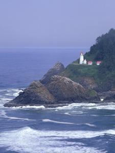 Heceta Head Lighthouse on Heceta Head, Oregon, USA by Jamie & Judy Wild