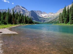 Lake Josephine with Grinnell Glacier and the Continental Divide, Glacier National Park, Montana by Jamie & Judy Wild