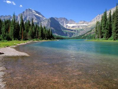 Lake Josephine with Grinnell Glacier and the Continental Divide, Glacier National Park, Montana