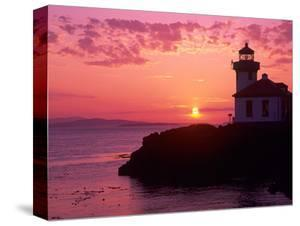 Lime Kiln Lighthouse, Entrance to Haro Strait, San Juan Island, Washington, USA by Jamie & Judy Wild