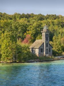 Michigan, Munising. Grand Island, East Channel Lighthouse by Jamie & Judy Wild