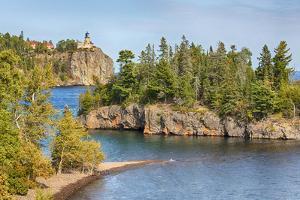 Minnesota, Lake Superior North Shore. Split Rock Lighthouse by Jamie & Judy Wild