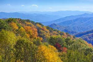 North Carolina, Great Smoky Mountains NP, View from Newfound Gap Road by Jamie & Judy Wild