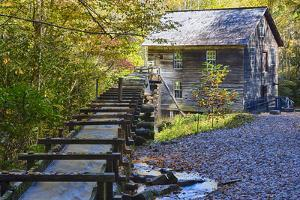 North Carolina, Great Smoky Mts, Mingus Mill, Water-Powered Grist Mill by Jamie & Judy Wild