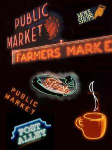 Pike Place Market Signs, Seattle, Washington, USA by Jamie & Judy Wild