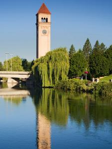 Riverfront Park with Clock Tower and Spokane River, Spokane, Washington by Jamie & Judy Wild