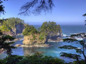 Seastacks, Makah Nation Tribal Lands, Cape Flattery, Washington, USA by Jamie & Judy Wild