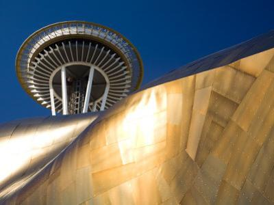 Space Needle and the Experience Music Project, Seattle Center, Seattle, Washington, USA by Jamie & Judy Wild